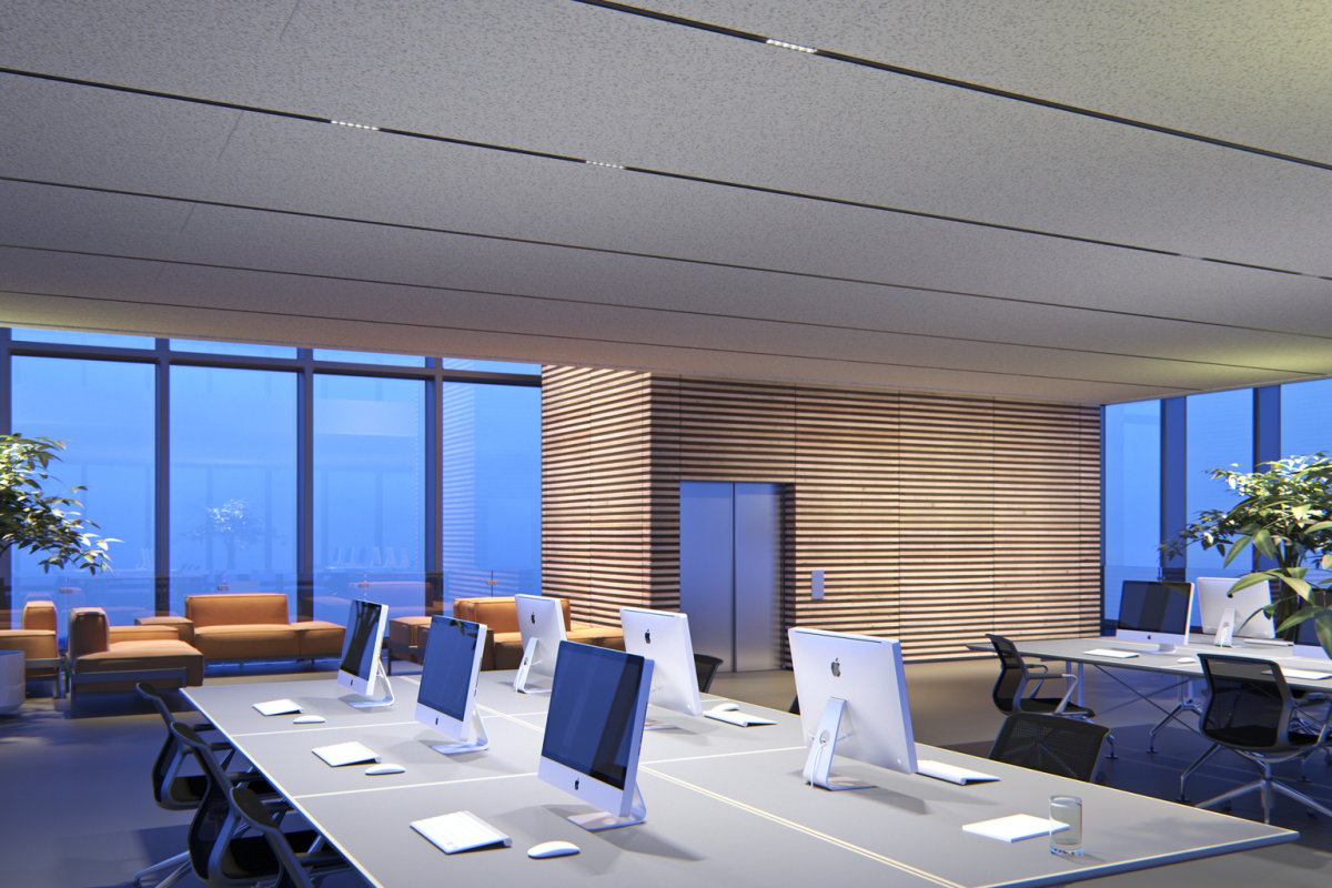 With its linear aesthetic, Compar gives the designer enormous creative scope in ceiling design, whilst the five efficient light distributions of the ERCO recessed lighting tools meet the highest standards of distinctive architectural and office lighting.