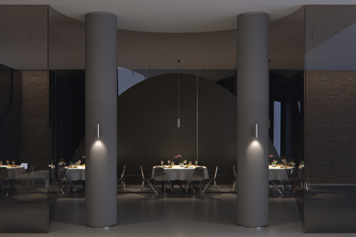 Starpoint wall-mounted luminaires stand for sophisticated design and mood lighting, creating a visual rhythm whilst emphasising vertical architectural features.