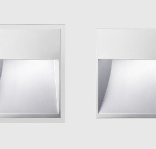Floor washlights square - Flush or covered mounting detail