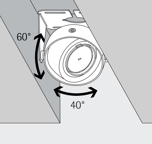 Gimbal Basic with mounting bracket - Ideal for ceiling channels