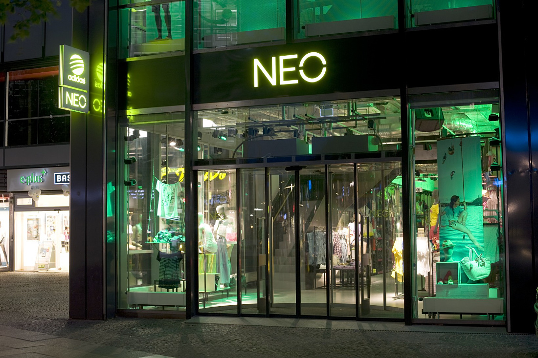 Erco Discovering Light Shop Adidas Neo Store