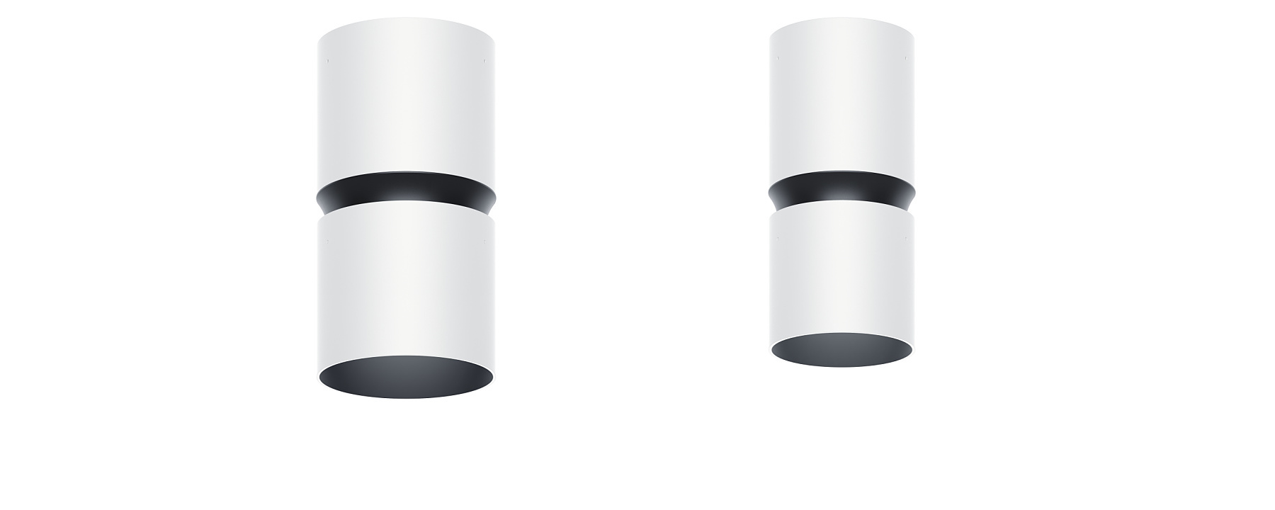 Atrium double focus - Surface-mounted luminaires