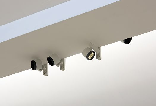White Parscan spotlights complement the daylight.