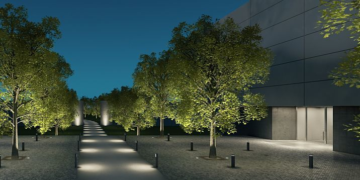 Erco discovering light outdoor lighting design examples for Exterior lighting design guide
