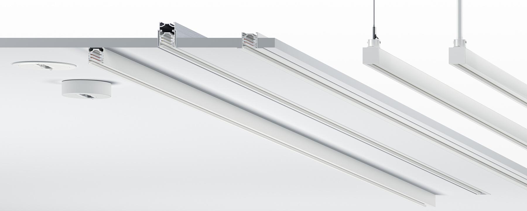 Innenraum - Stromschienen und Lichtstrukturen - ERCO Stromschienen