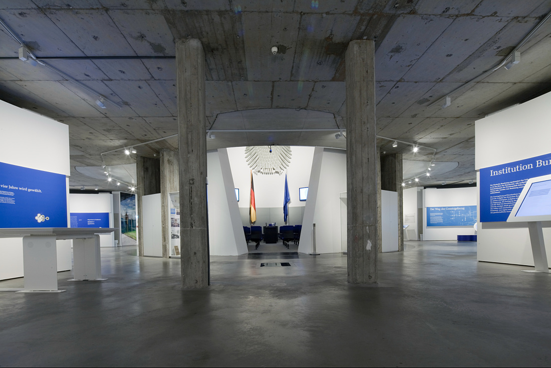 Exhibition space at Deutscher Dom church, Berlin