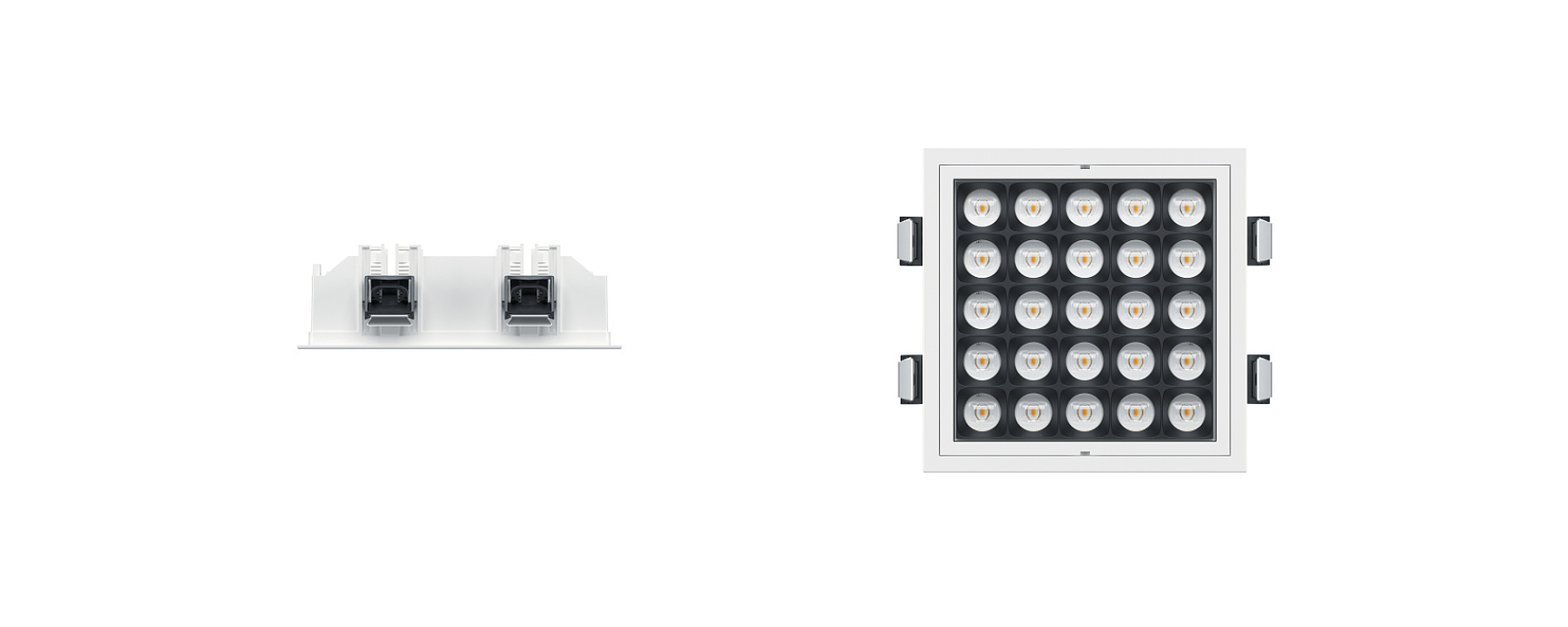 Jilly square - Recessed luminaires