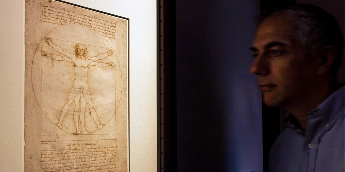 Leonardo da Vinci/1452-1519 exhibition at the Palazzo Reale, Milan