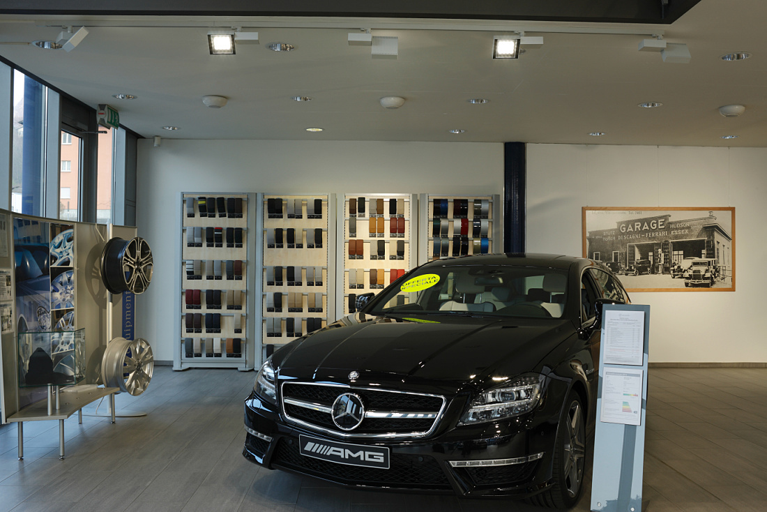 Mercedes showroom, Lugano