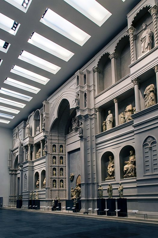 "The centrepiece of the Florentine Museum of the Cathedral, the ""Salone del Paradiso"", is dominated by a spectacular, full-scale model of the Cathedral's medieval façade."