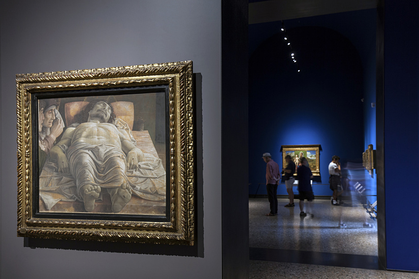 """The Dead Christ and Three Mourners"" (1470-1474) by Andrea Mantegna, photo: Dirk Vogel"