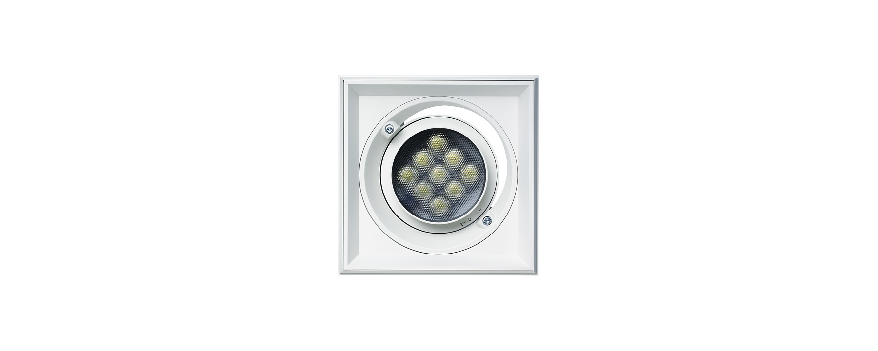Quintessence square - Recessed spotlights, recessed floodlights and recessed wallwashers