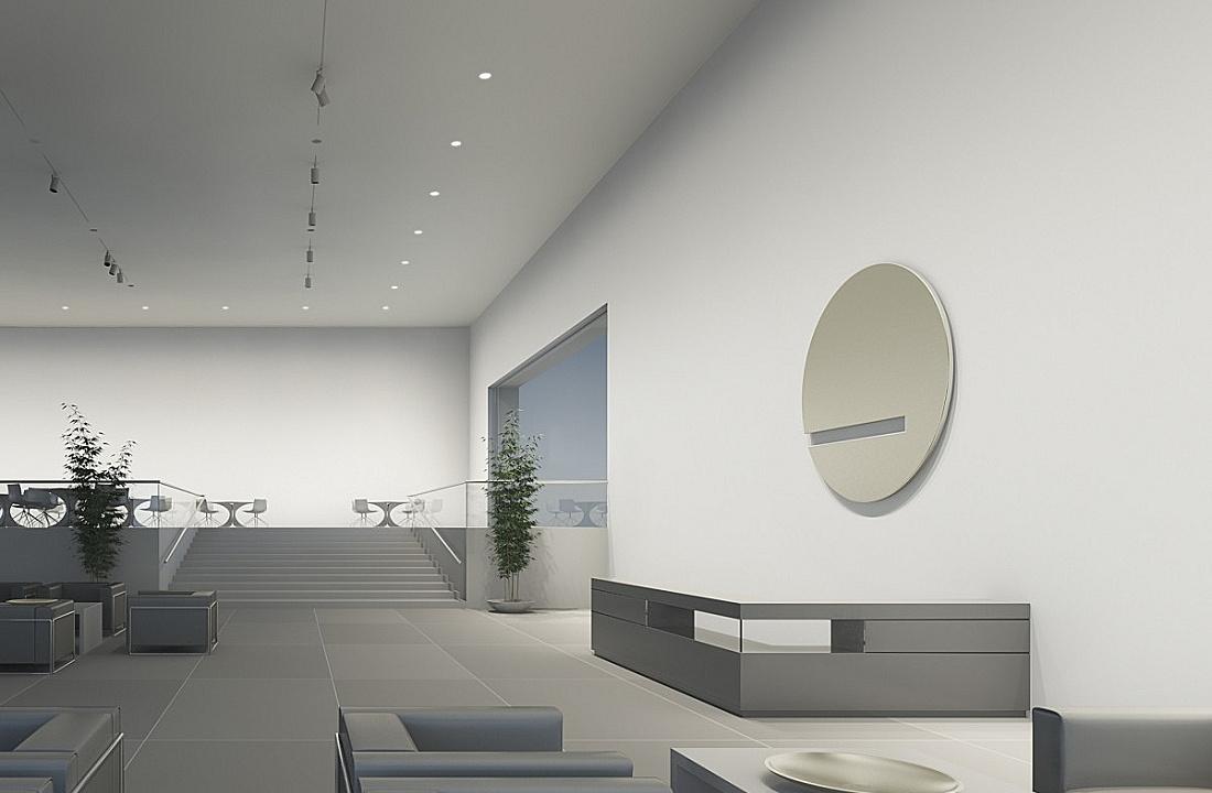 Bright Uniform Wall Lighting Of Room