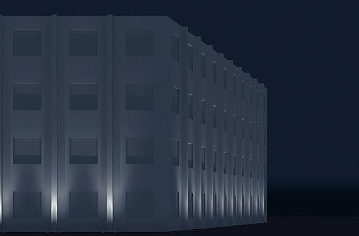 Guida illuminazione di ambienti esterni facciata