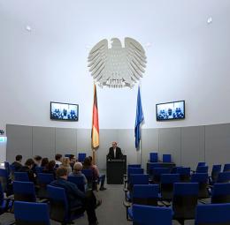 Utställningsrum i katedralen Deutscher Dom, Berlin