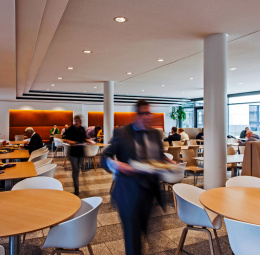 Canteen at the Ministry of Labour, Integration and Social Affairs of North Rhine-Westphalia, Düsseldorf