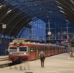 Ljus för tågstationer