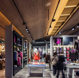 Lighting design: Retail design ceiling