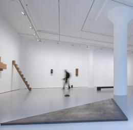 Richard Nonas and Donald Judd exhibition in the Fergus McCaffrey gallery, New York