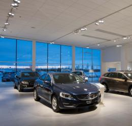 Volvo Retail Experience in the Luleå showroom