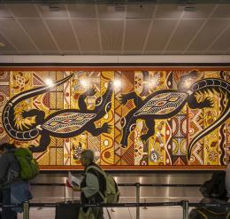 Kingsford Smith International Airport, Sydney—artwork