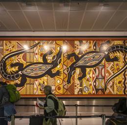 Kingsford Smith International Airport, Sydney—artwork